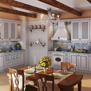 Кухни в Севастополе Искья синяя