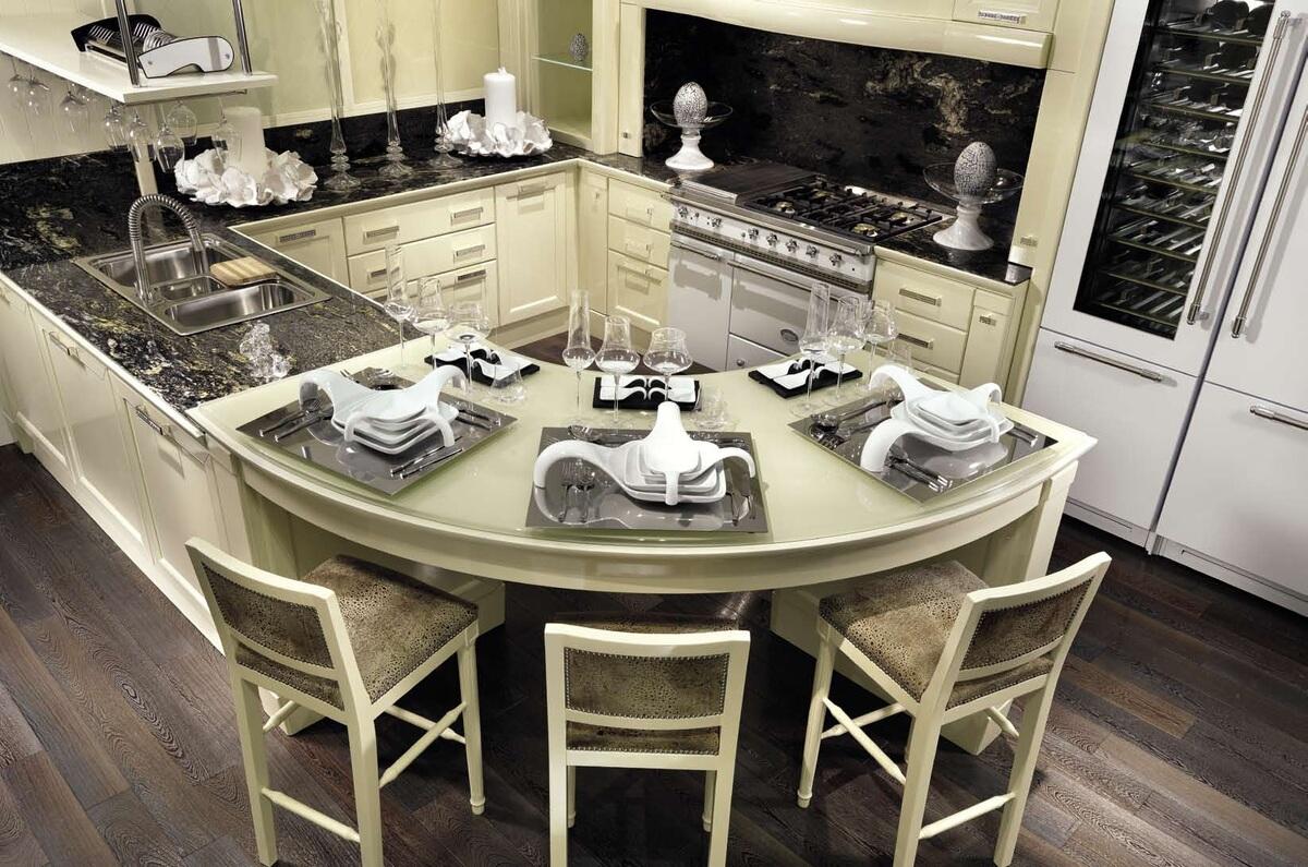 Кухни в Севастополе с итальянской фурнитурой и с каменной столешницы